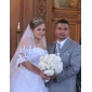 2 catedral camada com renda / véu do casamento beading