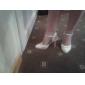 satin övre chunky klack sandaler med beading bröllop skor fler färger