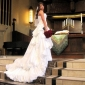 A-line/ Princess Sweetheart Court Train Taffeta Pick-up Wedding Dress
