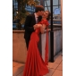 Trumpet/Mermaid One Shoulder Floor-length Spandex Mother Of The Bride Dress