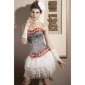 Satin Strapless Front Busk Closure Corsets Special Occasion Shapewear