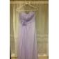 Floor-length Chiffon Bridesmaid Dress - Dark Navy Plus Sizes / Petite Sheath/Column Strapless / Sweetheart