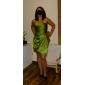 Lan ting noiva de joelho de comprimento vestido de dama de cetim vestido - bainha / coluna strapless plus size / petite
