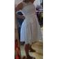 A-line/Princess Plus Sizes Wedding Dress - Ivory Short/Mini Scoop Taffeta/Lace