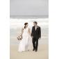 Lanting Bride® Trompete / Meerjungfrau Extraklein / Übergrößen Hochzeitskleid - Schick & Modern Boden-Länge V-Ausschnitt Chiffon mit