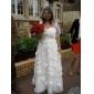 웨딩 드레스 - 아이보리(색상은 모니터에 따라 다를 수 있음) A 라인/프린세스 발목 길이 스윗하트 오르간자 플러스 사이즈