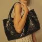 kvinnors dubbelsidig sequined tote / handväska