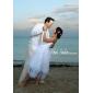 웨딩 드레스 - 아이보리(색상은 모니터에 따라 다를 수 있음) A 라인 무릎 길이 튜브탑 사틴/오르간자 플러스 사이즈