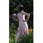 Vestido de Dama de Honor/Fiesta de Boda de Tafetán Hasta el Suelo Sin Tirantes y con Corte en A