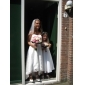 Lanting A-line/Princess Plus Sizes Wedding Dress - Ivory Asymmetrical Sweetheart Lace