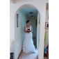 Trumpet/Mermaid Plus Sizes Wedding Dress - Ivory Floor-length Off-the-shoulder Tulle/Organza