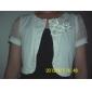 chiffon de manga curta / algodão com flores / botton jaquetas de noiva / wraps