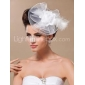 Gorgeous Tulle And Feather Bridal Fascinator/Headpiece