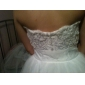Linia -A Prințesă In Formă de Inimă Lungime Podea Tulle Rochie de mireasă cu Aplică de LAN TING BRIDE®