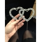 Cake Toppers Vintage Elegance Rhinestone Double Hearts  Cake Topper