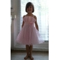 A-line Knee-length Empire Waist Flower Girl Dress