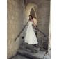 Lanting sposa a-line / principessa petite / taglie abito da sposa-pavimento-lunghezza senza spalline in raso
