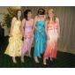 A-line printesa off-the-umăr lungime taffeta rochie prom dress up cu ts couture®