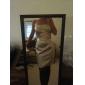 Knee-length Stretch Satin Bridesmaid Dress - Fuchsia Plus Sizes Sheath/Column Strapless