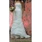 Lanting Bride® Sereia Pequeno / Tamanhos Grandes Vestido de Noiva - Clássico e atemporal / Elegante e Luxuoso Cauda Corte Tomara que Caia