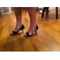 Escarpins Ouverts de Danse à Brides Croisées en Satin (Autres Coloris Disponibles)