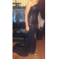 Formal Evening Dress - Black Plus Sizes Trumpet/Mermaid One Shoulder Sweep/Brush Train Sequined