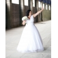 Lanting Bride® Princess Petite / Plus Sizes Wedding Dress - Classic & Timeless Vintage Inspired Floor-length V-neck Tulle withLace /