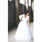 Lanting Bride® Princess Petite / Plus Sizes Wedding Dress - Classic & Timeless Vintage Inspired Floor-length V-neck Tulle with Lace