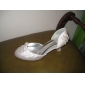 Satin Upper Closed-toes With Bow Wedding Shoes/ Bridal Shoes .More Colors Available