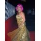 TS Couture Evento Formal Baile Militar Vestido - Elegante Estilo Celebridade Brilho & Glitter Tubinho Tomara que Caia Longo Paetês com