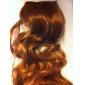 klippet i syntetiske krøllete hår extensions med 5 klipp - 6 farger tilgjengelig