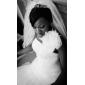 Fit & Flare Plus Sizes Wedding Dress - Ivory Court Train One Shoulder Satin/Organza