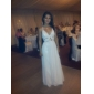 Formal Evening/Military Ball Dress - Pearl Pink Plus Sizes Sheath/Column V-neck/Straps Floor-length Chiffon