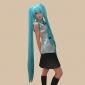 Inspirado por Vocaloid Hatsune Miku Vídeo Jogo Fantasias de Cosplay Ternos de Cosplay / Vestidos Patchwork Preto / Azul / PúrpuraSem