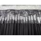 hög klass blandade ull hår makeup borste set med elegant svart fodral (19 st)