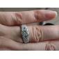 cubic zirconia og rhinestone med platina plating ring