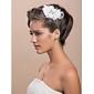 hoofddeksels tule prachtige witte veer strass voor bruids