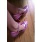 paillettes scintillantes et similicuir avec boucle chaussures de danse