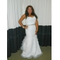 Trumpet/Mermaid Plus Sizes Wedding Dress - Ivory Court Train Sweetheart Satin/Organza