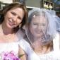 o véu do casamento com três camadas véus valsa