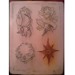 10 x tatovering pratice skinn og 10 x transfer papir