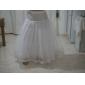 nylon bolden kjole fuld kjole 4 tier gulv-længde slip stil / bryllup skørter