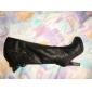 Leatherette chunky hæl kne høye støvler parti / kveld sko (flere farger)