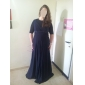 TS Couture® Formal Evening / Military Ball Dress - Black Plus Sizes / Petite A-line / Princess V-neck / Straps Floor-length Chiffon
