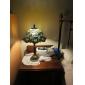 RALEIGH - Lampe de Table Tiffany Florale Fini Bronze