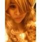 Высококачественный монолитный парик из экстра длинных вьющихся золотисто-коричневых синтетических волос