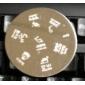 nail art stämpel stämpling bild mall platta m-serien