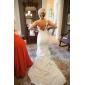 Mermaid / trompeta dragoste curte de vara taffeta rochie de mireasa cu buton pick-up side-draped by lan ting bride®