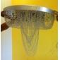kristallkrona med 18 ljus (krom)