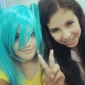 Perruque 2 Queues de Cheval Cosplay Vocaloid Hatsune Miku